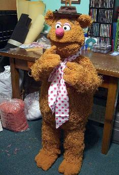 Fozzie Bear prototype poser puppet by Terry Angus