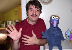 Terry Angus and his Gonzo poser puppet