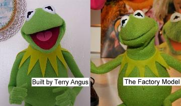 Kermit the Frog Terry's and Master Replicas poser puppet comparison
