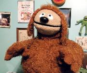 Rowlf poser puppet by Terry Angus looks on